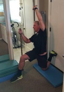 Half Kneeling Quadriceps/Psoas Stretch